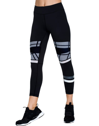 Vee Long Legging in Black and White