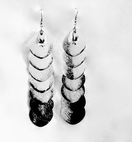 Seven peaces silver metal earrings