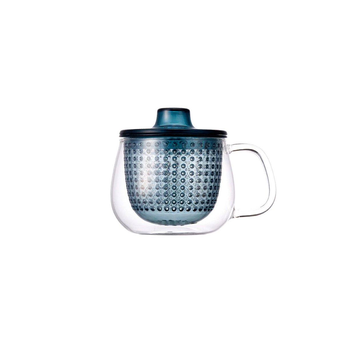 UNIMUG glass teapot in  blue for loose leaf tea by The Rabbit Hole