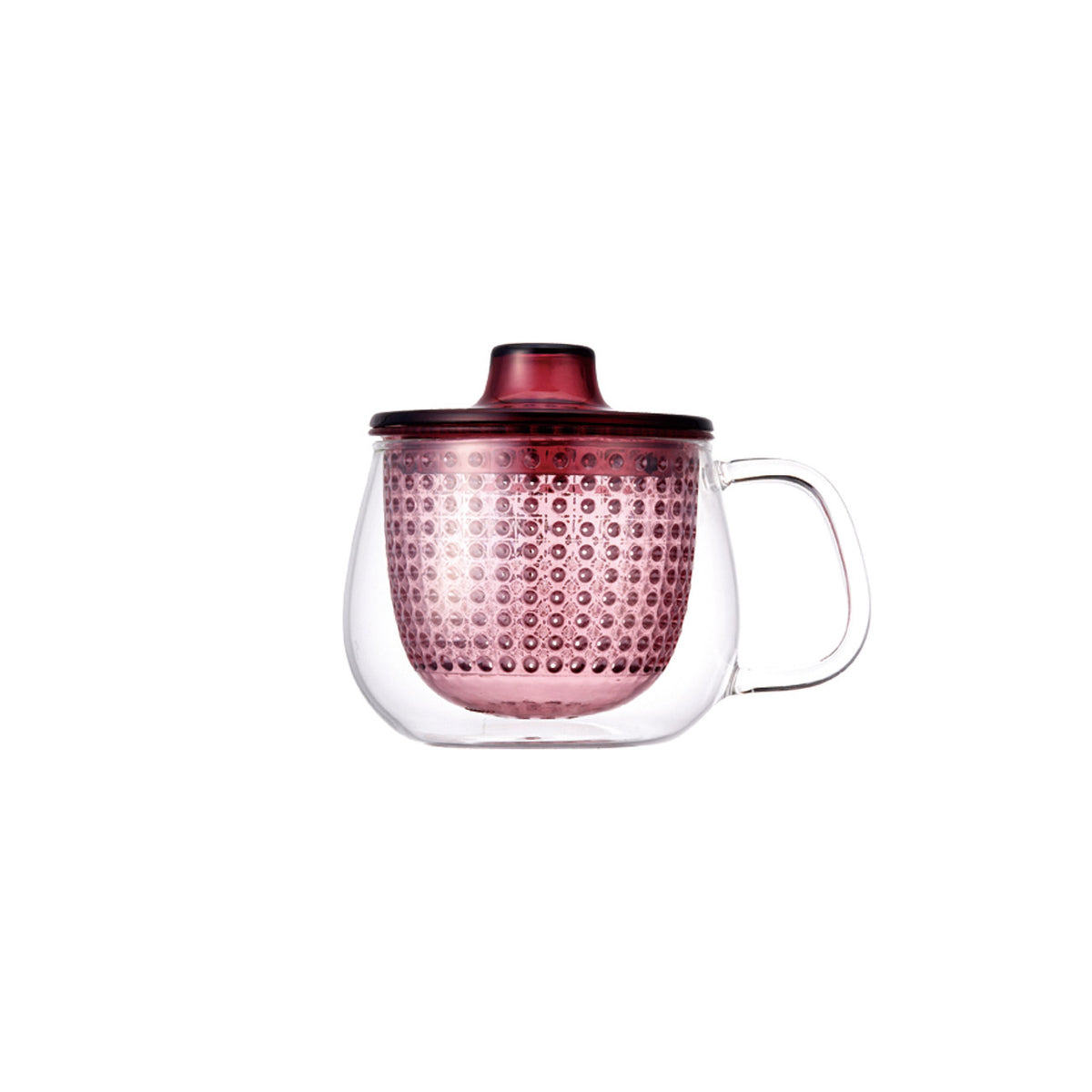 UNIMUG glass teapot in  red for loose leaf tea by The Rabbit Hole