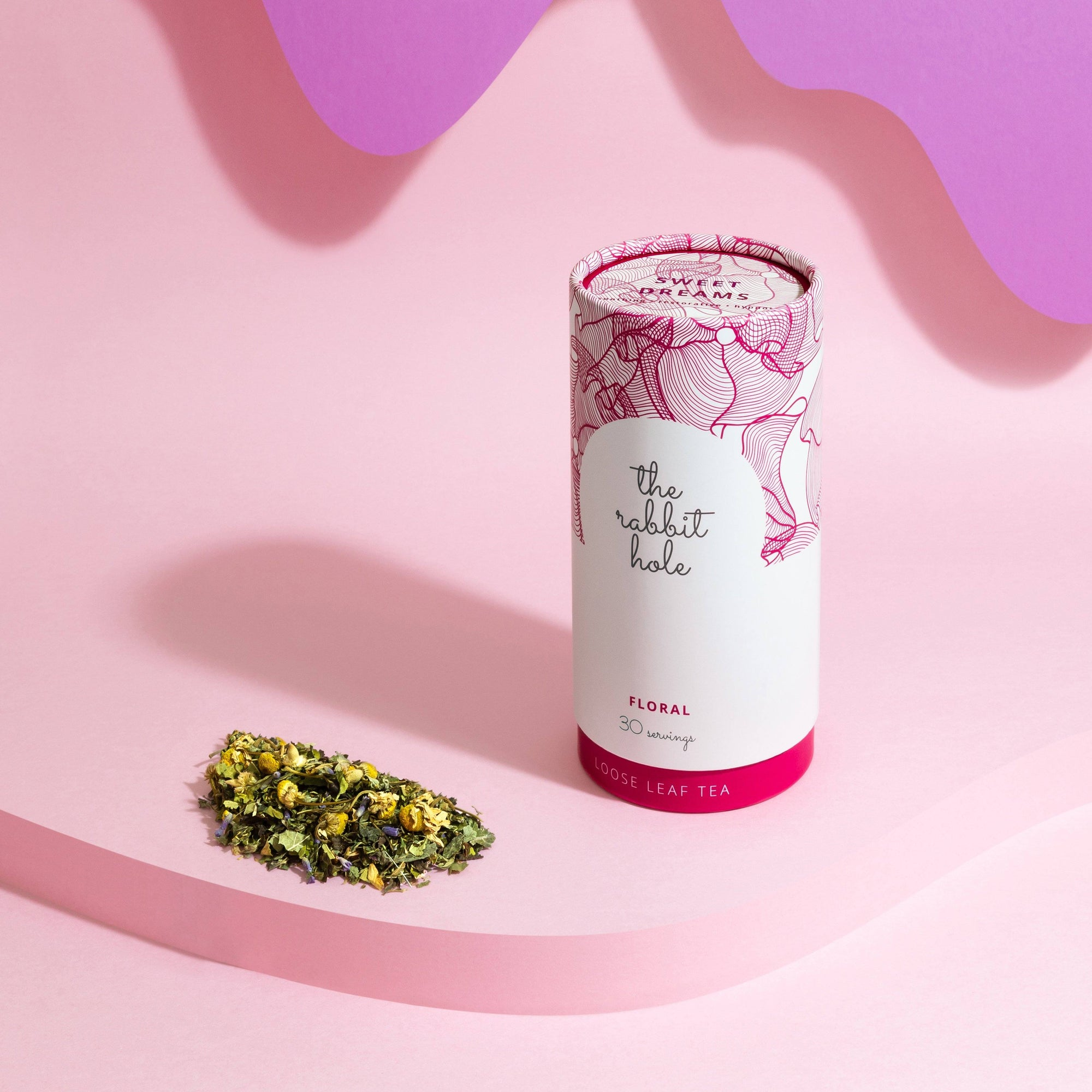 Sweet Dreams Floral The Rabbit Hole - Australian Made Tea