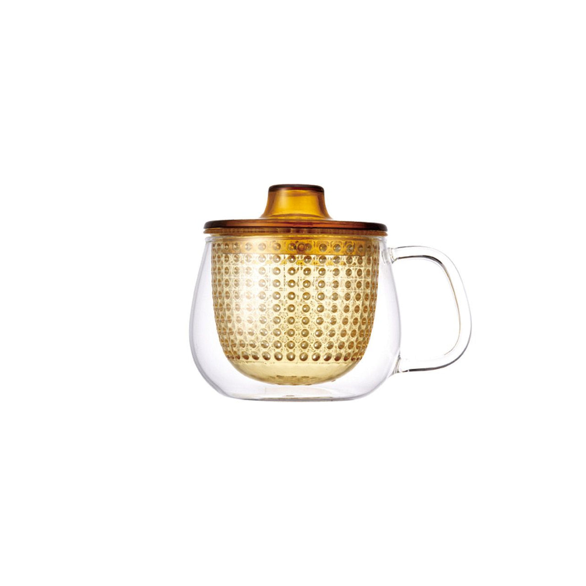UNIMUG glass teapot in  yellow for loose leaf tea by The Rabbit Hole