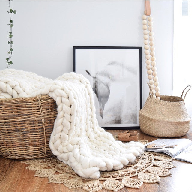 Chunky Knit Throw - Small (Nursery/Single)