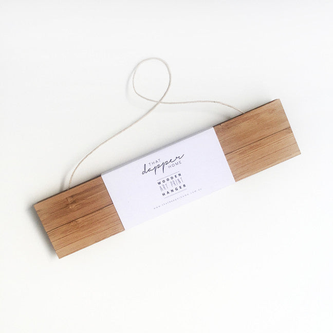 Wood Art Print Hanger