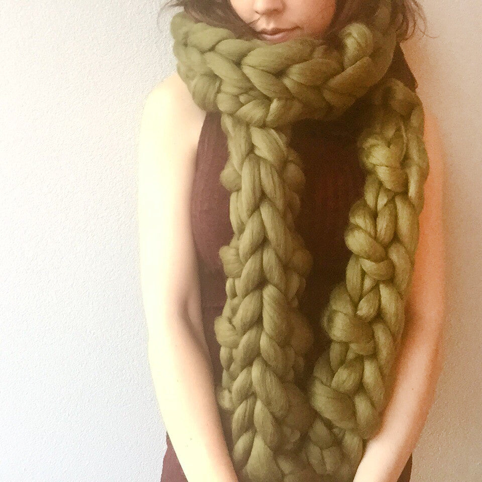 Chunky Knit Scarf - Large