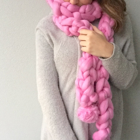 Chunky Knit Scarf - Medium
