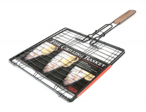 Non-Stick Triple Fish Grilling Basket