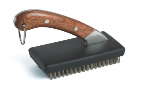 Compact Rosewood Handle Grill Brush
