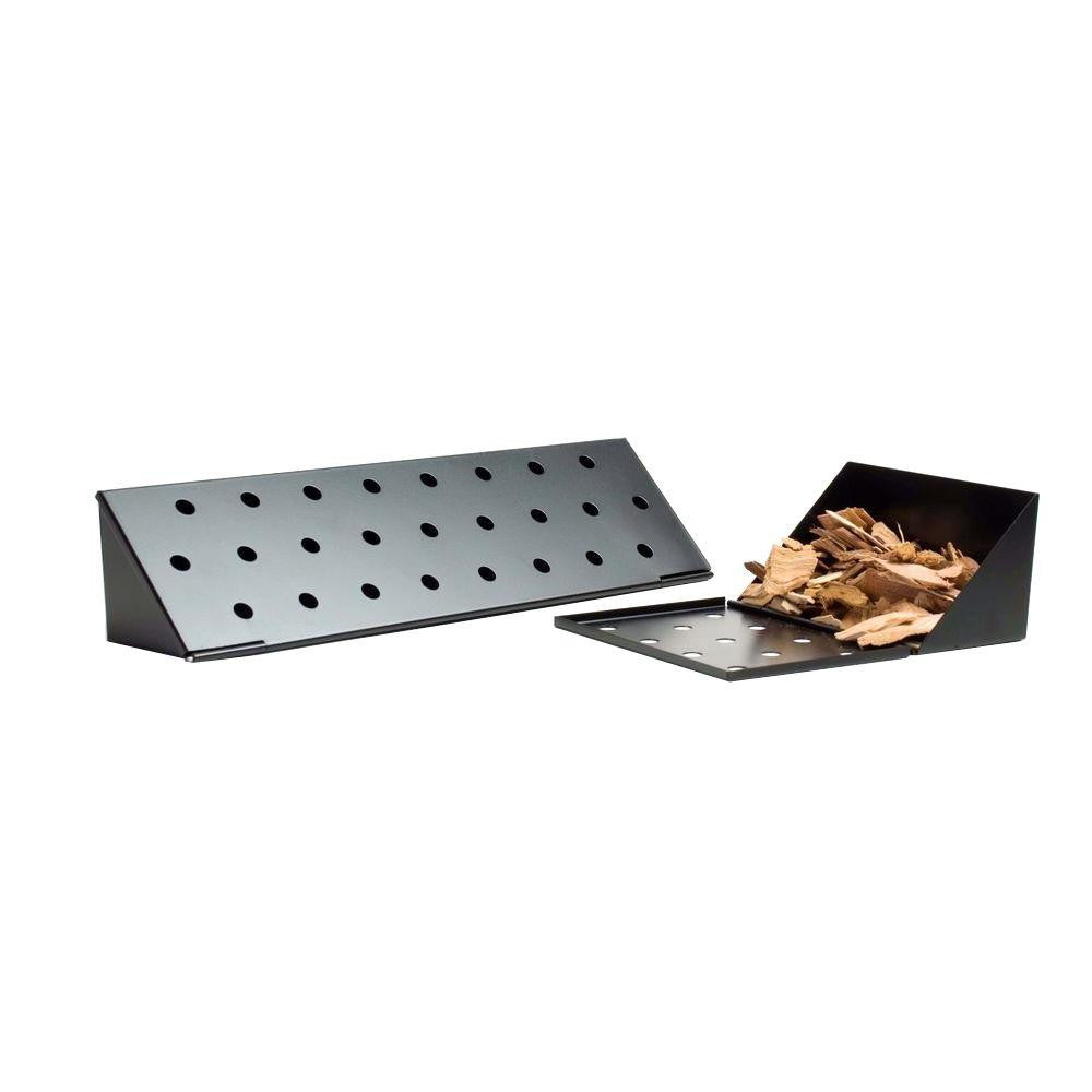 "Non-Stick V-Shape Smoker Box 13 3/4"" Long"