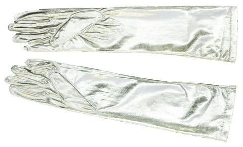 Metallic Elbow-Length Gloves
