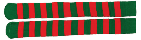 Christmas Red & Green Striped Socks