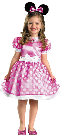 Girl's Pink Minnie Mouse Classic Costume