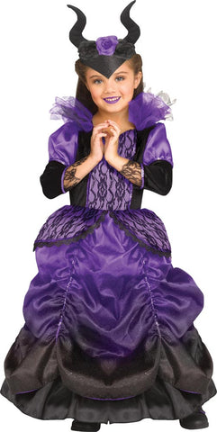Girl's Wicked Queen Costume - Purple
