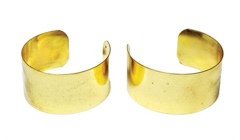 Gold Arm Cuffs Pair