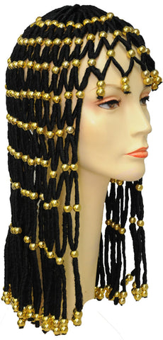 Headdress with Gold Beads Wig