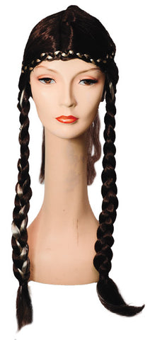 Long Braid with Braid Crown Wig