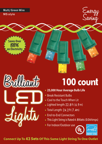 100-Count M5 Holiday Lights
