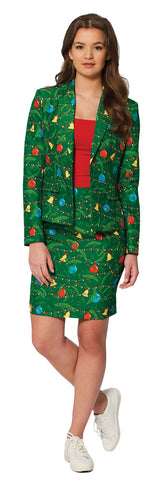 Women's Green Christmas Tree Suit