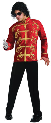 Men's Deluxe Red Military Michael Jackson Jacket