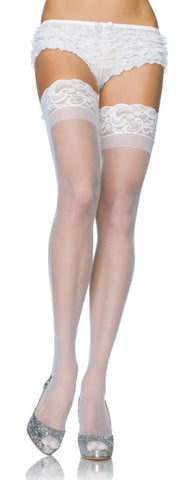 Sheer Lycra Stay-Up Thigh-Highs