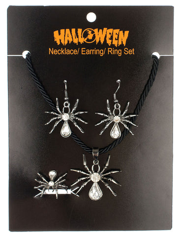 Spider Necklace, Ring & Earring Set