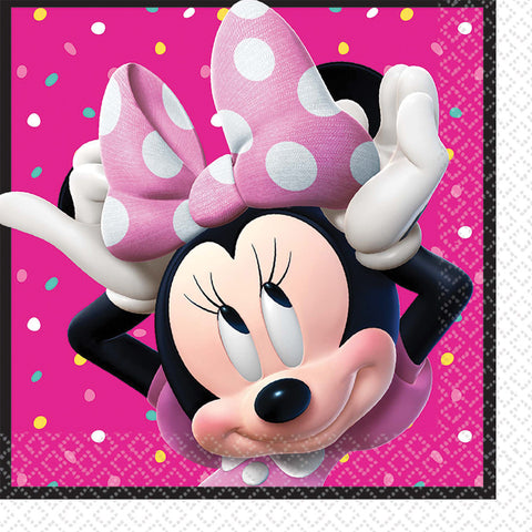 "6.5"" Minnie Helpers Lunch Napkins - Pack of 16"