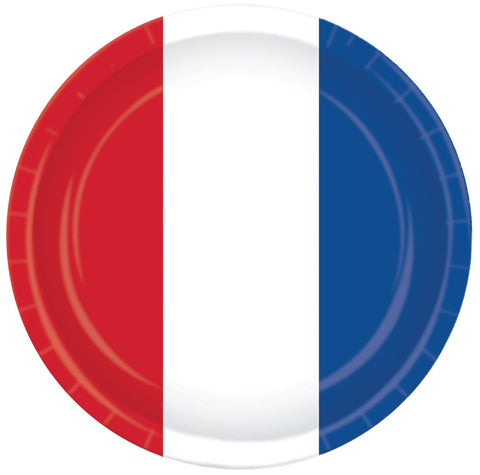 "9"" Red White Blue Plates - Pack of 8"