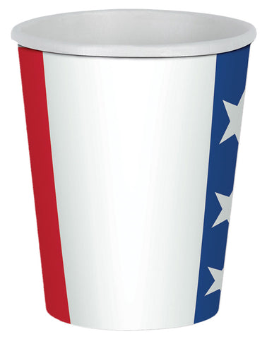 Patriotic Beverage Cups 9oz - Pack of 8