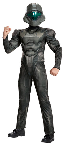 Boy's Spartan Buck Classic Muscle Costume - Halo