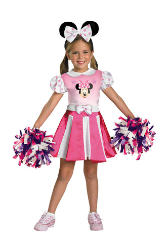 Girl's Minnie Mouse Cheerleader Costume