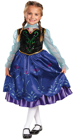 Girl's Anna Traveling Deluxe Costume - Frozen