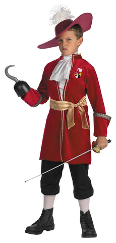 Boy's Captain Hook Classic Costume - Peter Pan
