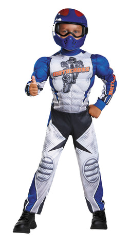 Boy's Motorcycle Rider Muscle Costume