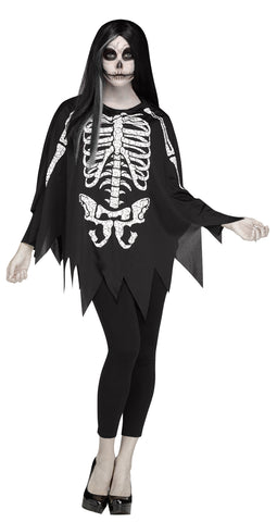 Women's Poncho Skeleton