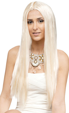 "25"" Blonde Long Locks Wig"