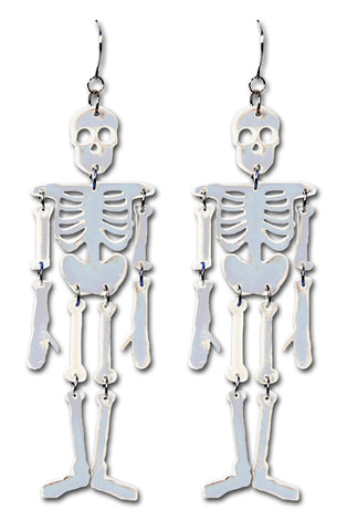 Reflective Skeleton Earrings