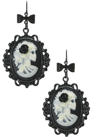 Glow-in-the-Dark Cameo Earrings