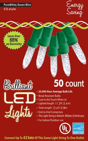 50-Count C3 Holiday Lights