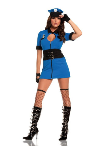 Women's Intriguing Interrogator Costume