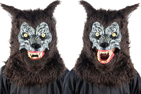 Animated Animal Brown Werewolf Mask