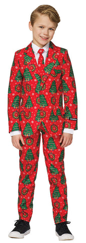 Boy's Red Christmas Suit