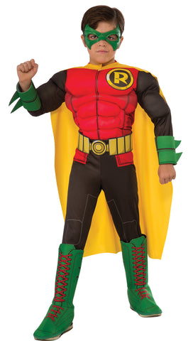 Boy's Deluxe Photo-Real Muscle Chest Robin Costume