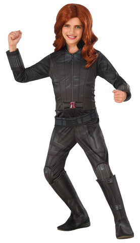 Girl's Deluxe Black Widow Costume