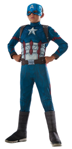 Boy's Deluxe Muscle Captain America Costume