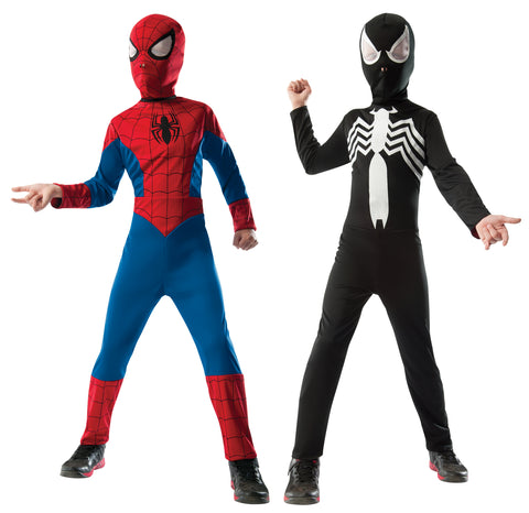 Boy's 2 in 1 Reversible Spider-Man Costume