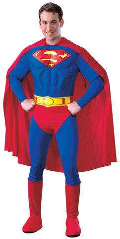 Men's Deluxe Muscle Chest Superman Costume