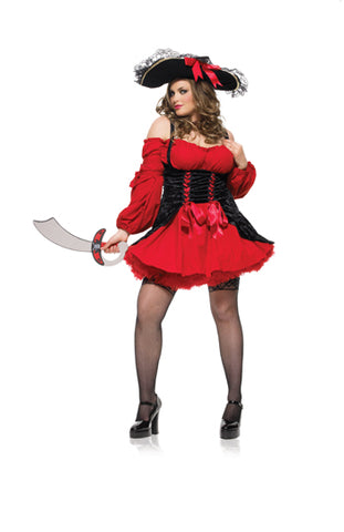 Women's Plus Size Vixen Pirate Wench Costume