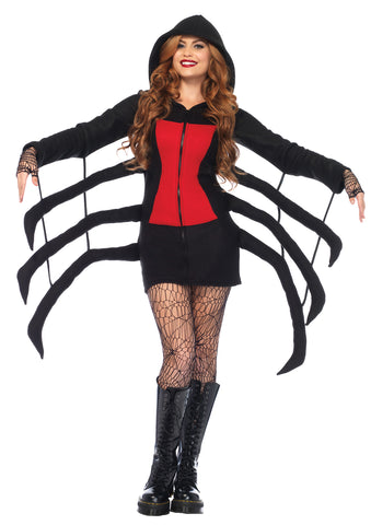 Women's Cozy Black Widow Spider Costume