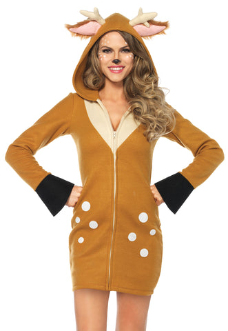 Women's Plus Size Cozy Fawn Costume