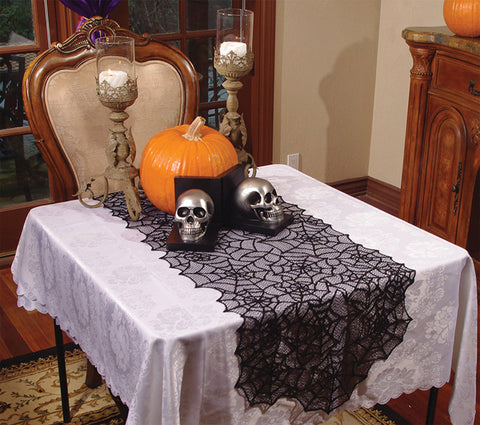 Lace Spiderweb Table Runner